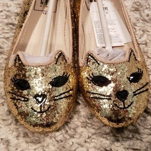 Gap youth kitty ballet flats, gold size 12